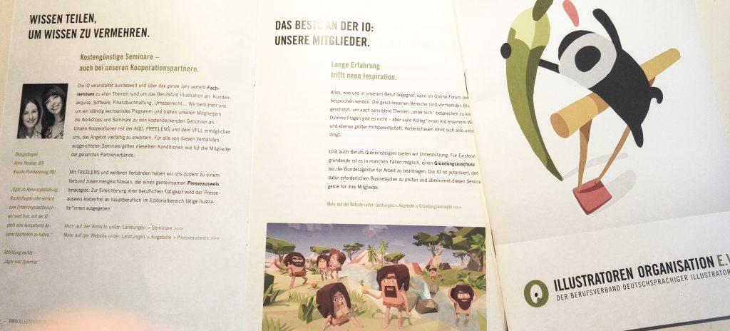 Illustratoren Organisation IO Broschüre Designdoppel