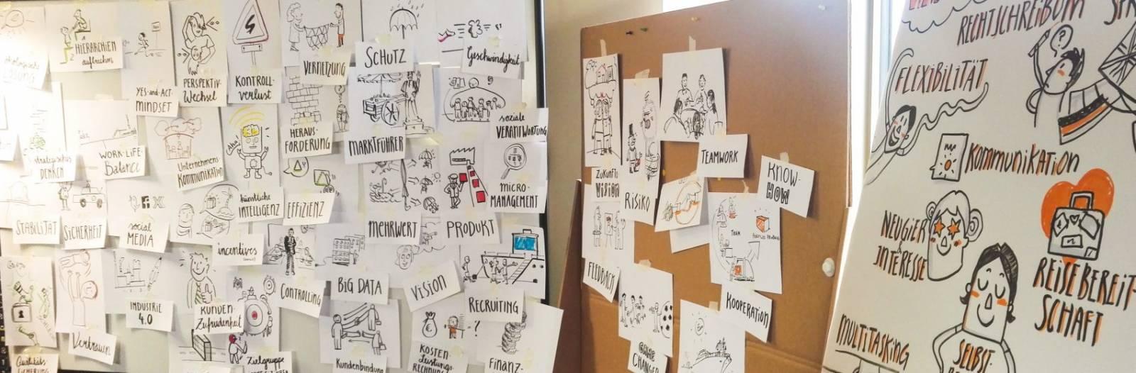 Graphic Recording Seminar Hamburg Designdoppel