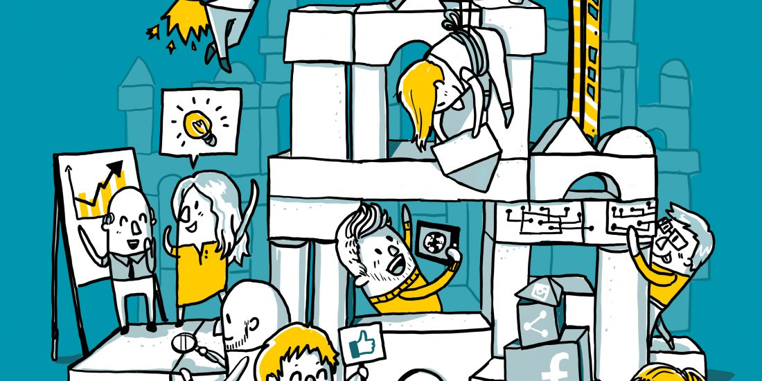 Unternehmen der Zukunft Illustration Commerzbank