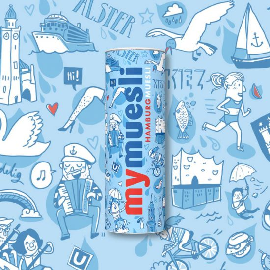 Mymuesli Packaging Design Hamburg Illustration