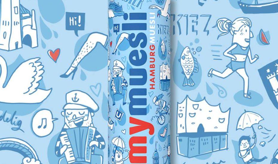 Mymuesli Packaging Design Hamburg Illustration