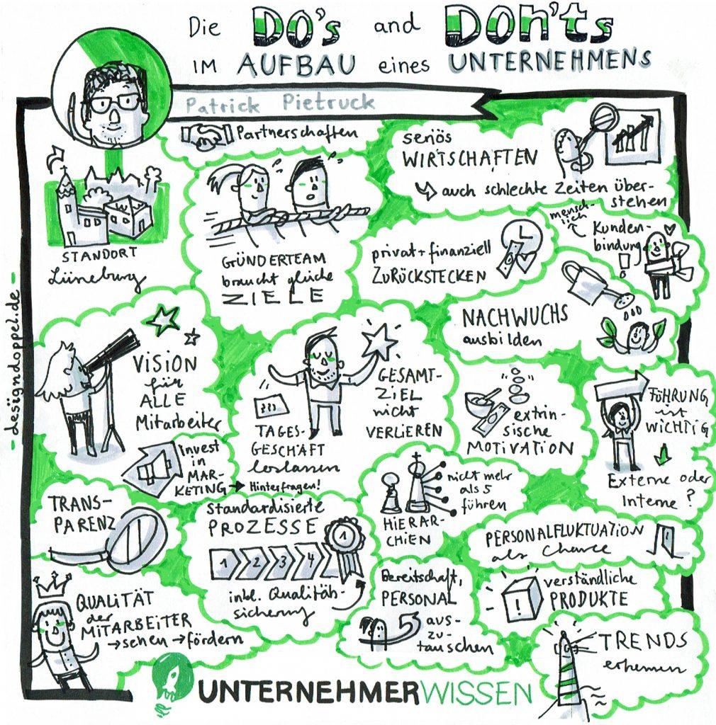Sketchnote Unternehmerwissen Patrick Pietruck Dos and Donts