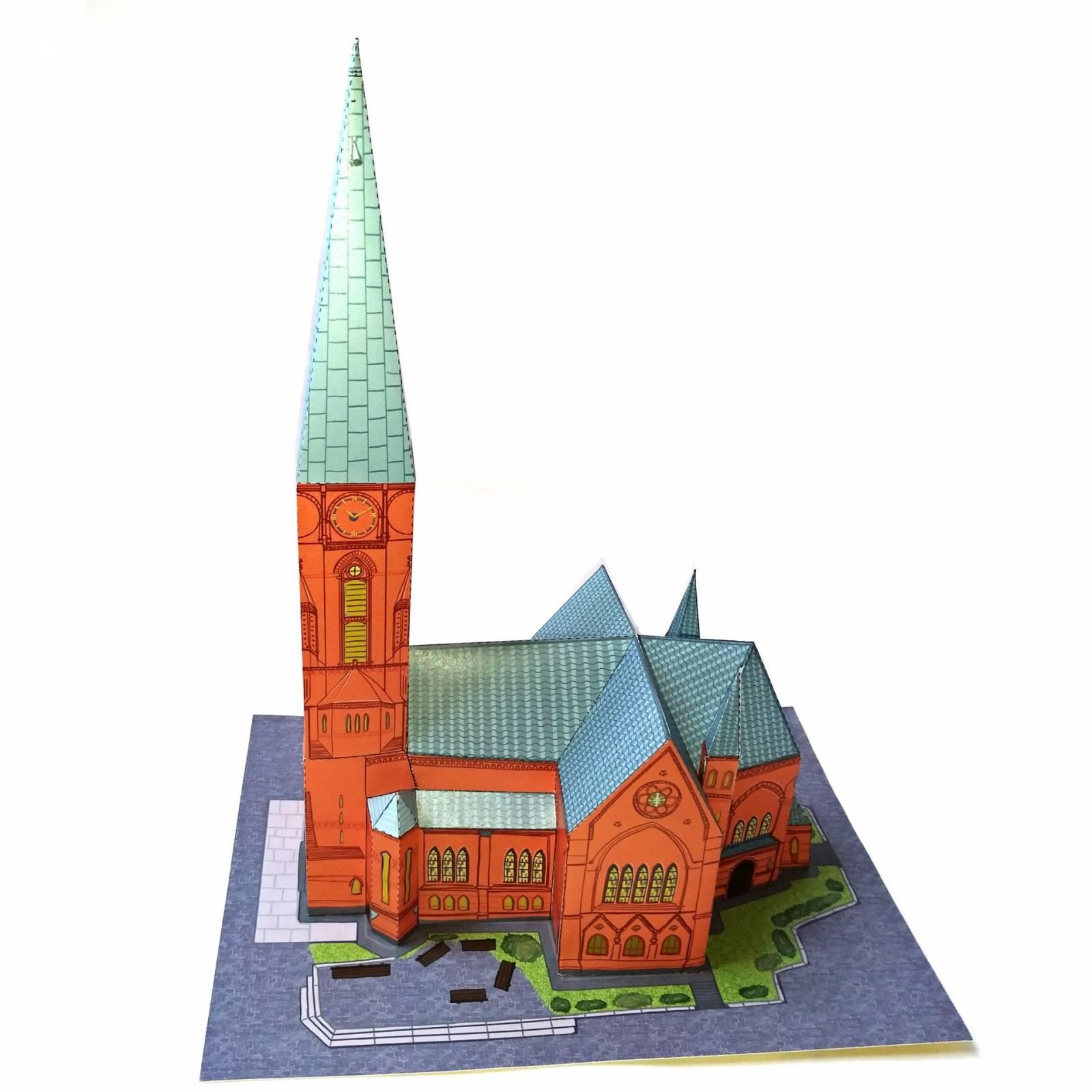 Papercraft Friedenskirche Foto
