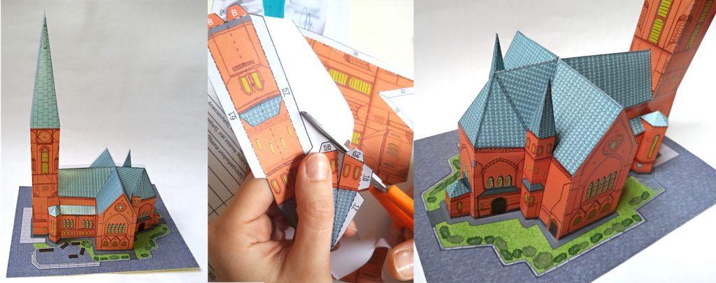 Friedenskirche Papercraft Bastelbogen Impressionen