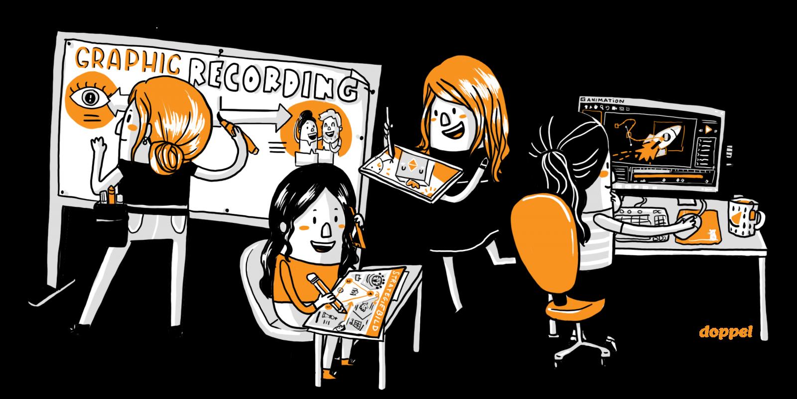 Designdoppel Graphic Recording Illustration und Animation
